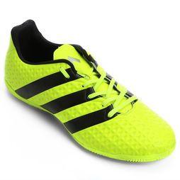 Chuteira Adidas Ace 16.4 IN Futsal - Verde Limão+Preto