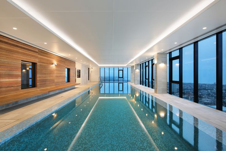 Enjoy amazing views as you relax and unwind while taking a dip in Platinum Tower's level 52 pool.