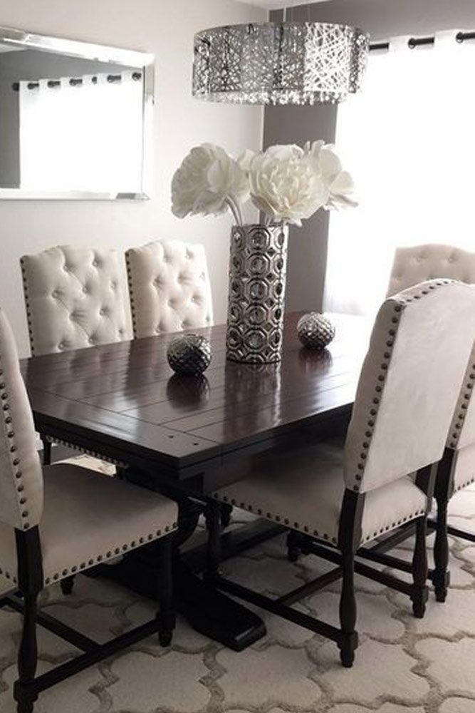 25 best ideas about rustic dining rooms on pinterest for White dining room table set