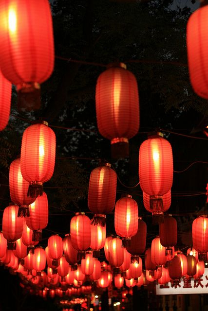 Red Lanterns - Ghost Street, Beijing - China