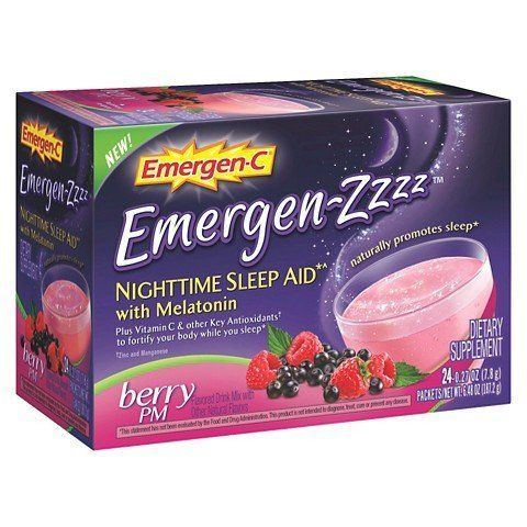 Emergen-c Emergen-zzzz Nighttime Sleep Aid Berry Pm, 1 Pack of 24 Packets Emer'gen-C Works great when I can't get to sleep! I received this product for testing and unbiased evaluation.