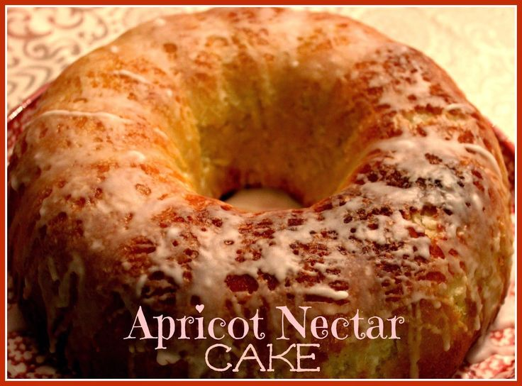 Lemon Pound Cake Made With Apricot Nectar