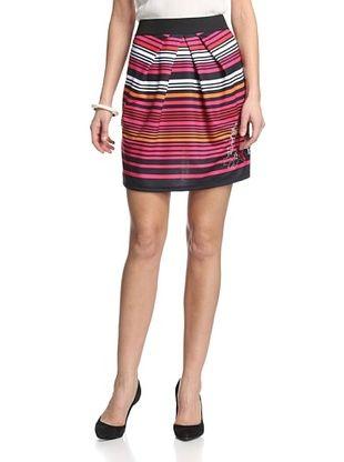 54% OFF Desigual Women's Striped Skirt (Negro)