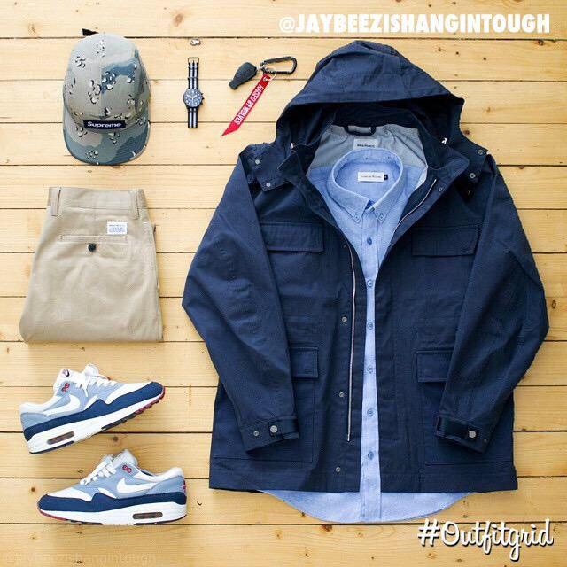 Outfit grid - Rainy daywear