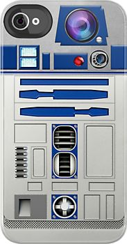 Made in USA, Great Case, Sharp image & Fast Shipping.  Funny Cute Retro Star Wars R2D2 Robot Droid with Dual Blue Lens Camera - iphone 4 4s, iPhone 3Gs, iPod Touch 4g case, Available for T-Shirt man and woman