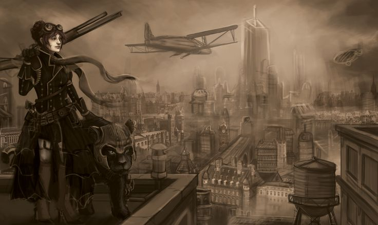 steampunk landscape by grimdreamart - photo #21