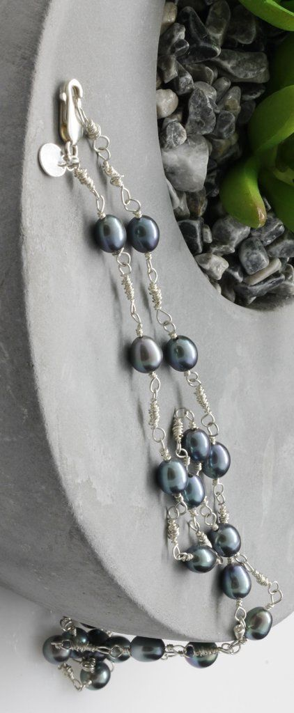 KJ-010 Freshwater Pearls Wire Wrapped Necklace – Kalitheo Jewellery