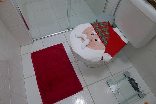 Tampa de vaso Papai Noel