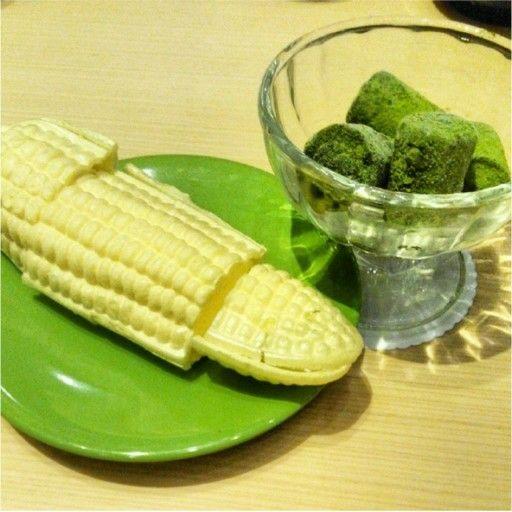 Corn Ice cream Nama matcha