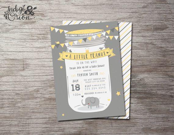 35 best baby shower images on pinterest | elephant baby showers, Baby shower invitations