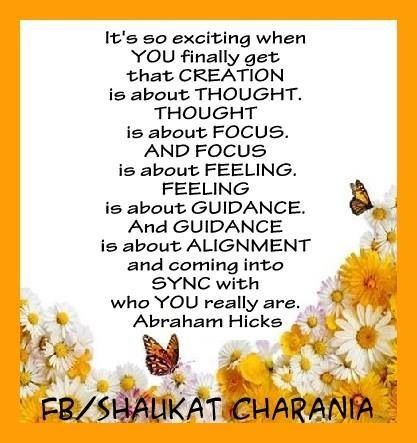 It is about alignment and coming into sync. #AbrahamHicks  #LawOfAttraction #LOA