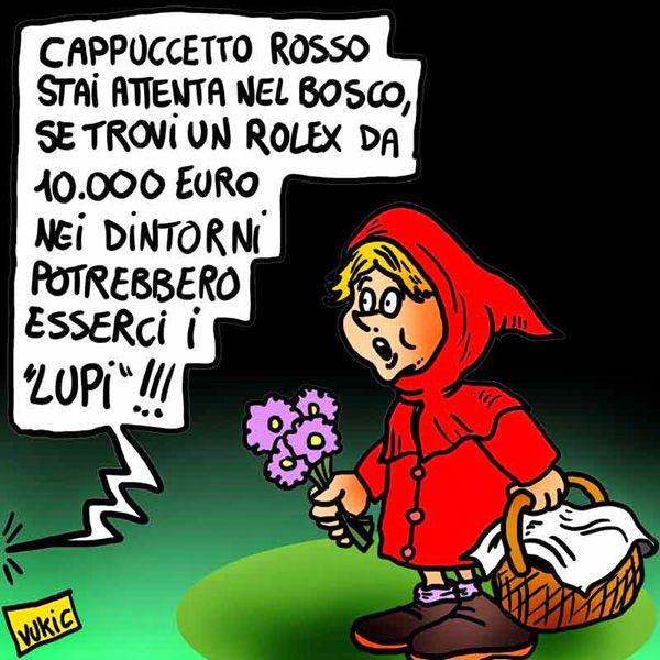#satira #politica #lupi #rolex #IoSeguoItalianComics