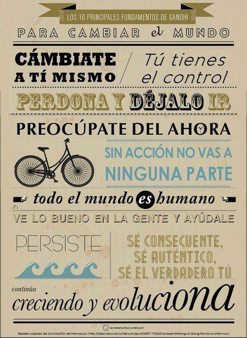 Para cambiar el mundo. Gracias a Alfredo Vela Zancada #Frases #Motivaciones