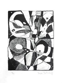 Litografia originale firmata di Poliakoff Serge