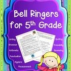Bell Ringers for 5th Grade contains daily prompts for students to complete each morning as the teacher handles attendance, homework, etc.  Tasks ar...