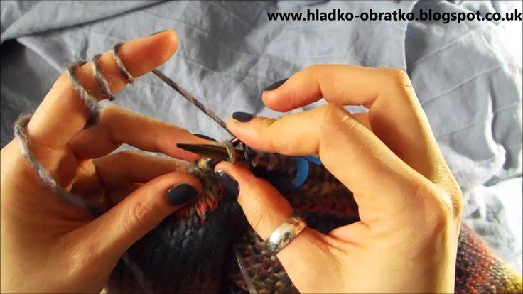 Ako strikovat sveter 4 cast   Zuzovanie na plecia