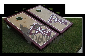 Gig 'em!  Best Aggie corn hole set on the web @Bagdaddys.com