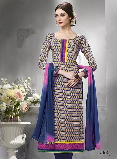 Sanskruti  Multicolor Cotton Suit