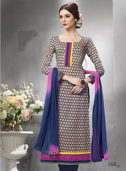 Sanskruti  Multicolor Cotton Suit