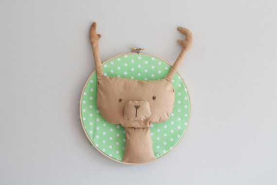 Fun Bear / Deer / Moose Trophy Head Wall Art by GloriousBandits on Etsy, $40.00 (NZD). Perfect for the home, workspace or nursery.
