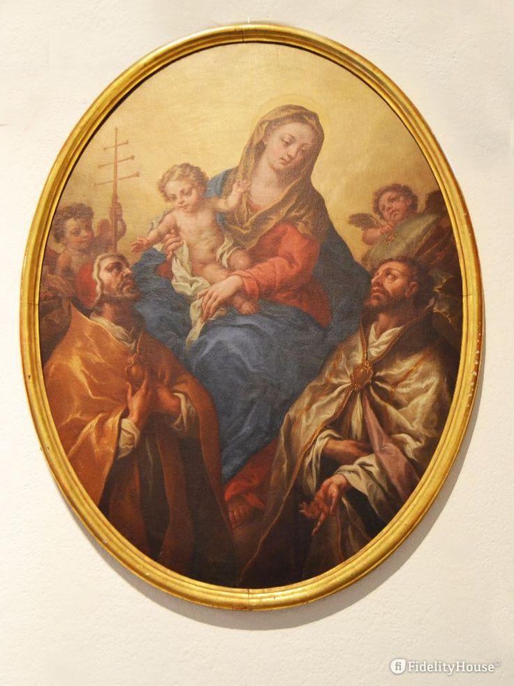 """L'opera """"Madonna col Bambino e i santi Celestino e Anselmo"""" (1717) di Pietro…"""