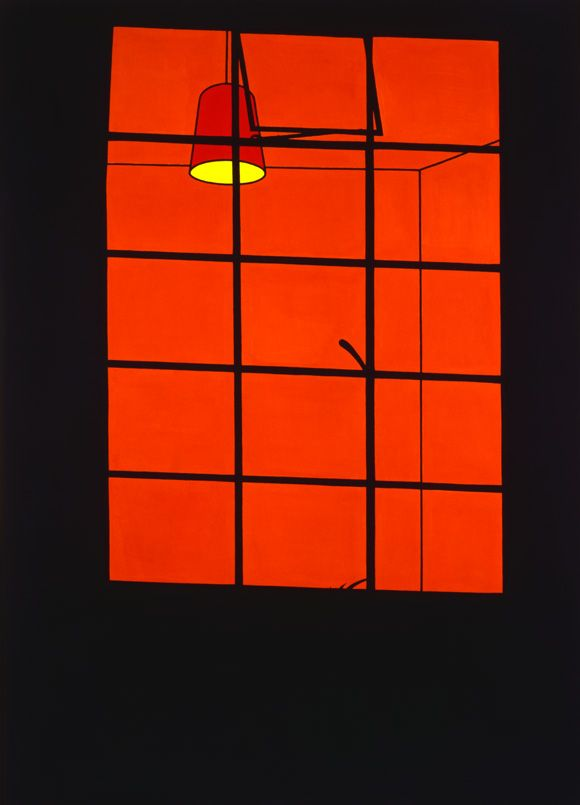 Patrick Caulfield - Window at Night 1969 Excellent exhibition at Tate Britain ends September 1 2013.