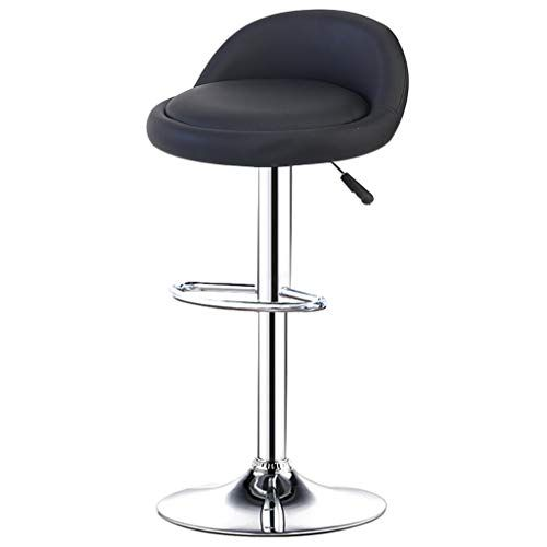Bar Stools Chair With Pu Leather Backrest And Footrest Swivel Height Adjustable Home Counter Kitchen Dining Breakfast Hi Bar Stool Chairs High Stool Shop Chair