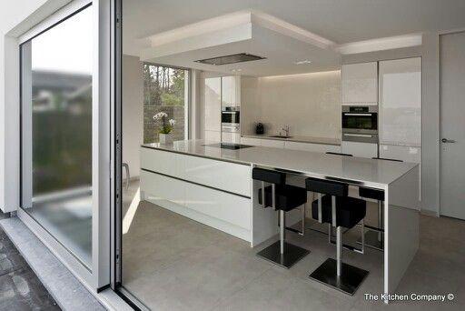 Dampkap verlaagd plafond keuken huis keuken pinterest - Design keuken plafond ...