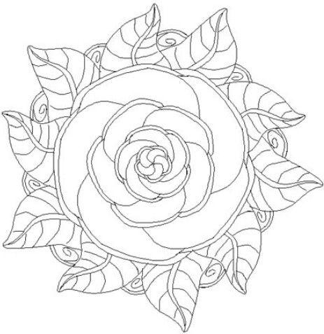 Kleurplaten Bloemen Mandala.Kleurplaten Mandala Bloemen Nvnpr