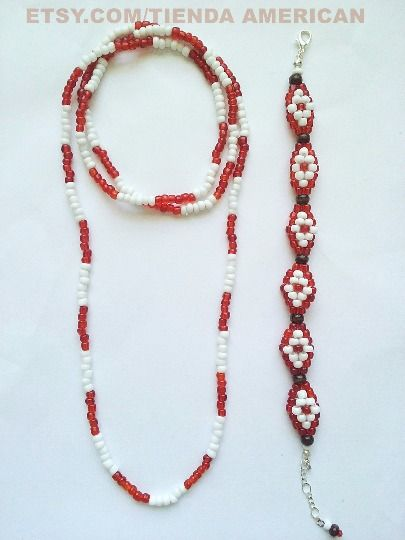 SANTERIA OSHA. BEADED ELEKE & IDDE SET FOR SHANGO ORISHA FREE GIFT BAG!