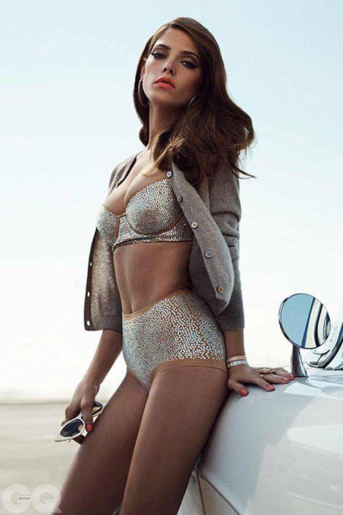 Ashley Greene Shows Her Sexy Bikini Bod In The December British GQ