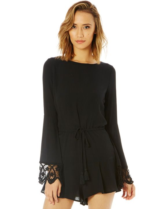 Lace Sleeve Playsuit