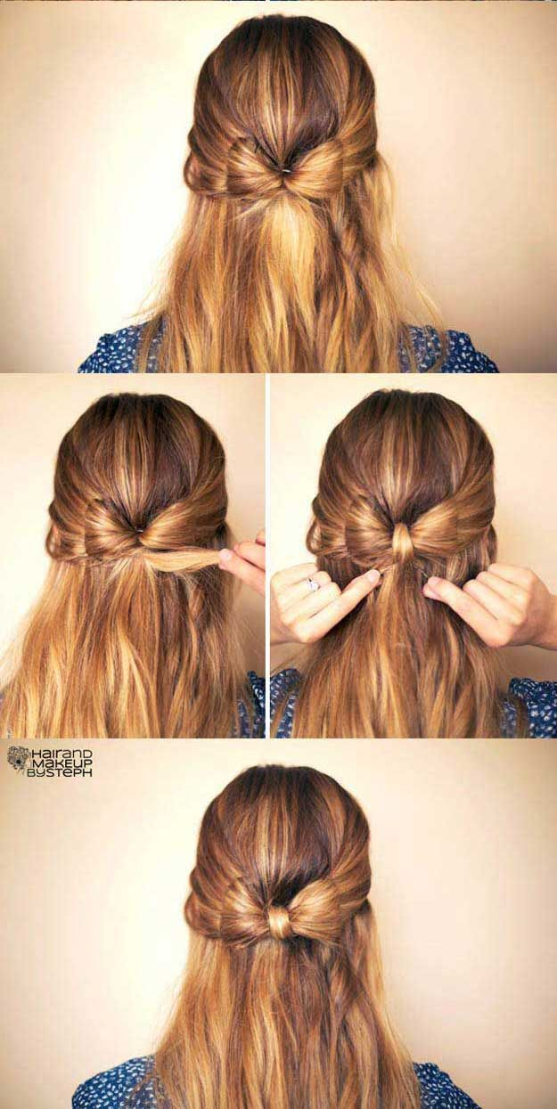 Amazing Half Up Half Down Hairstyles For Long Hair How To Hair Bow Easy Step By Step Tutori Down Hairstyles For Long Hair Down Hairstyles Long Hair Styles