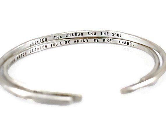 Custom Personalized Silver Cuff Bracelet.