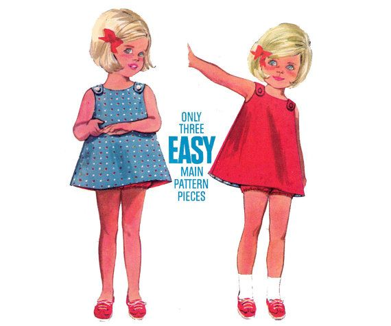 60s Toddler Baby Dress & Bloomers Pattern by allthepreciousthings