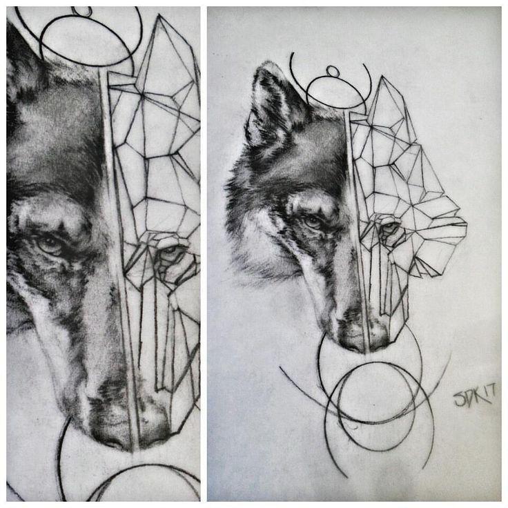 🐺 #wolf #geometric #sketch #sketchoftheday #draw #drawing #drawings #art #artwork