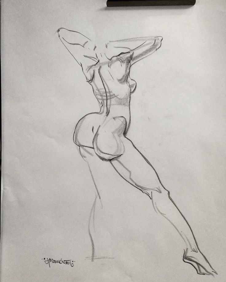 """""""3-Minuten-Aufwärm-Skizze beim Unterrichten von CalArts"""" – Anatomie und Formdesign Schnelle Skizze der schönen Jennifer Fabos heute in Valencia #calarts …"""