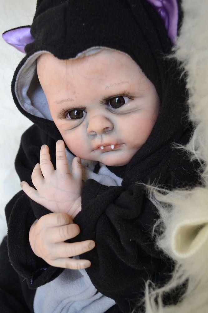 Ooak Reborn Baby Boy With 3d Skin Baby Vampire Baby