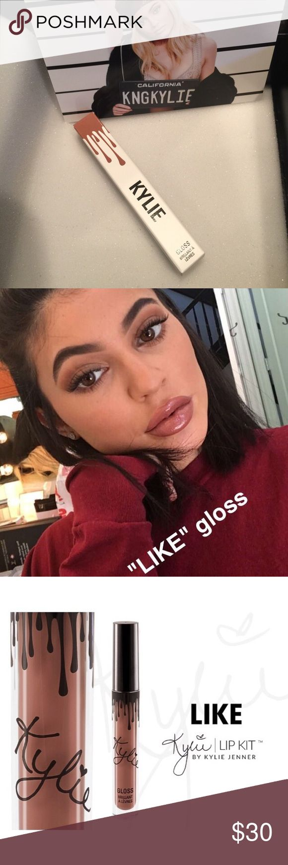 Kylie Like Lip Gloss Kylie Jenner like lip gloss. New in package. Price firm. No trades. Kylie Cosmetics Makeup Lip Balm & Gloss