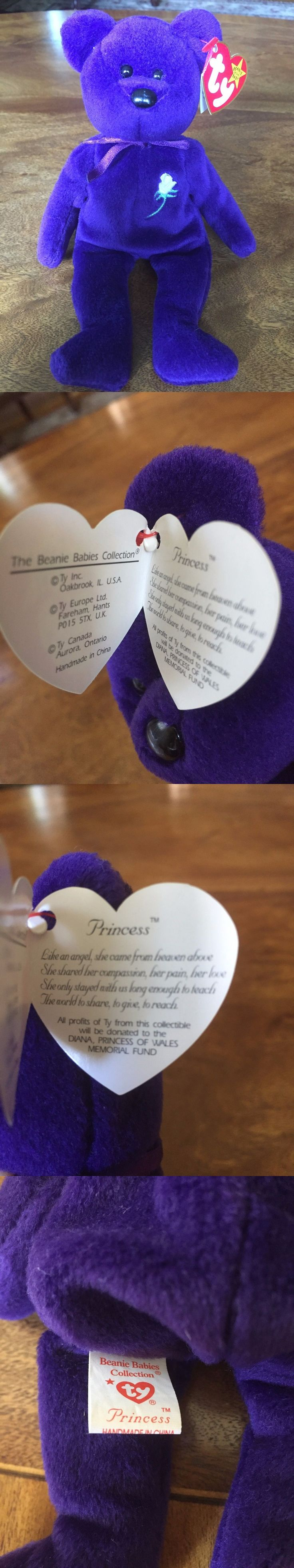 Retired 440: Princess Diana Beanie Baby 1St Edition Purple Pvc No Space Mint -> BUY IT NOW ONLY: $24250 on eBay!
