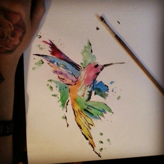 #hummingbird #watercolor