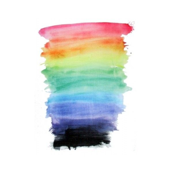 Rainbow Watercolor Wallpaper | iPhone | Blackberry ❤ liked on Polyvore