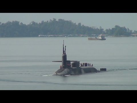 US New Weapons 2017 - Powerful US Submarines USS Columbia, USS Columbus, USS Ohio Moors in Action - YouTube