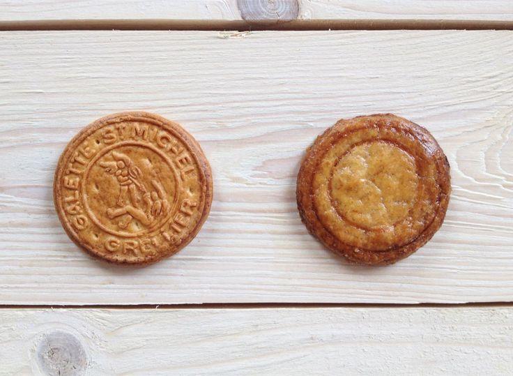 Galette St Michel Ingrédients (pour 35 biscuits) - 125 g de beurre demi-sel – 100 g de sucre blond – 200 g de farine – 1/2 c. à c. rase de bicarbonate alimentaire – 3 c. à s. de lait – 6 gouttes d'arôme naturel de vanille Pour la dorure – 1 jaune d'œuf – 3 c. à s. de lait