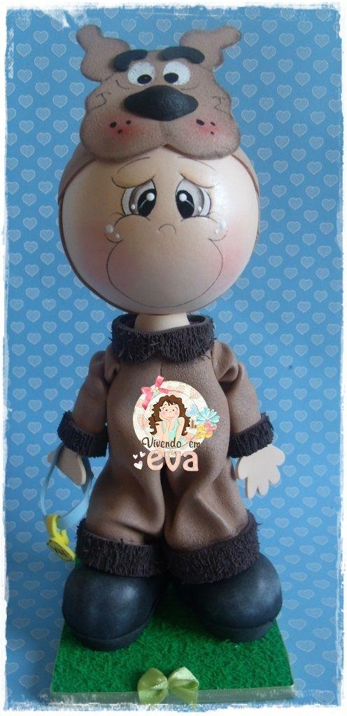 Mais peças feitas com carinho especial.     Fiz o fofucho personalizado para o bolo do Vitor Hugo que ama o Scooby Doo e a mamãe dele, a Po...