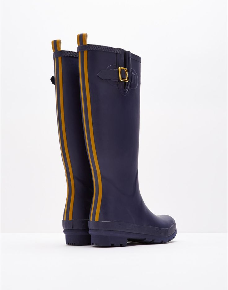 Matt French Navy Rain Boots | Joules US