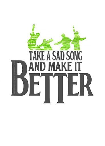 """*Take a Sad Song And Make It Better*  Did you know the Beatles failed many of their auditions and were turned down many times things like """"guitar was on the way out"""".. and """"their sound was not something people would listen to""""? Failed? Get back up again.. #truth"""
