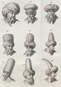 FB Ottoman Imperial · Ottoman era hats, 1774. Osmanlı dönemi başlıklar, 1774.