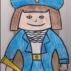 Great Fun idea for kids! Color, cut and glue pieces to a paper bag. Role play story of Christopher Columbus. Included in download: Picture of fini...