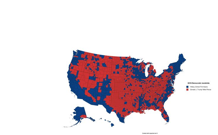 Results Of The Us Presidential Election By County If Hillary Clinton Won Every County That Donald Trump Won With Less Than 60 Of The Vote Pinterest